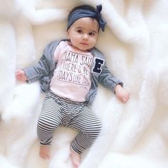 """Little Adi+Co®   Adrianne Betz on Instagram: """"One adorable little lady @laurajilizian  This onesie is currently sold out ~ not a lot left on the site during our HUGE 50% off sale!! Don't miss out - See previous post for details. {Enter promo code LASTCALL at checkout} #mylittleadi"""""""
