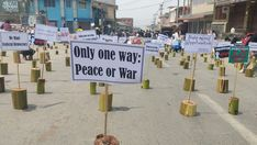 Unmanned Strike in Hakha Location: Hakha, Chin State #whatshappeninginmyanmar #savemyanmar #peacefulprotest #genzprotest #smartprotest #threefingersalute #hearthevoicesofmyanmar #massiveprotest Peaceful Protest, Photo Wall, War, Shit Happens, Photograph