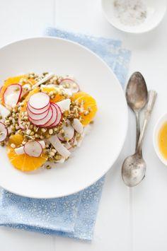Spring Sprouts Salad | KiranTarun.com