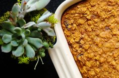 Ginger Pumpkin Baked Oatmeal | The Baking Bird