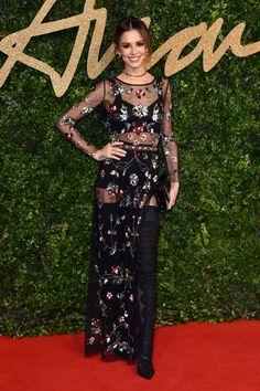 CHERYL FERNANDEZ VERSINI. British Fashion Awards: All The Red Carpet Looks.