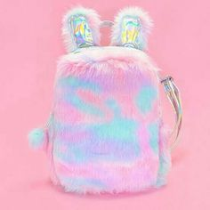 This softy and fuzzy unicorn mini backpack brings the cozy vibes full force! Mini Backpack, Backpack Bags, Mini Bag, Cute Girl Backpacks, Unicorn Fashion, Kawaii Accessories, Girls Bags, Cute Bags, School Bags