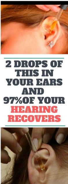 2 DROPS OF THIS IN YOUR EARS AND 97% OF YOUR HEARING RECOVERS! EVEN OLD PEOPLE FROM 80 TO 90 ARE DRIVEN CRAZY BY THIS SIMPLE AND NATURAL REMEDY!!! !!!