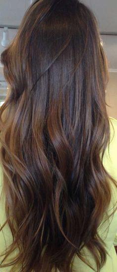 super healthy hair - great black tea colour!