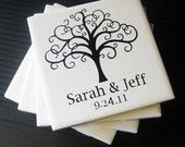 Personalized Family Tree Coasters..