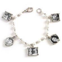 Photo Bracelet, Five Charm, Pearl [MCB-2524] : Memory Maker Bracelet