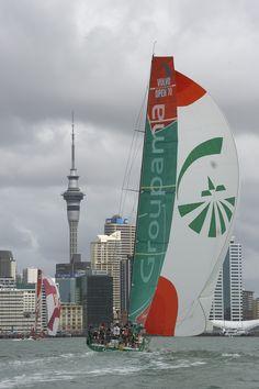 Groupama 4 / In-Port Auckland, New Zealand/ Volvo Ocean Race