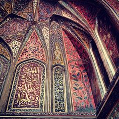 Wazir Khan Mosque, Lahore, Pakistan #|  [ MASHA'ALLAH!! Such gift of talent and intricate detail!!/Z]