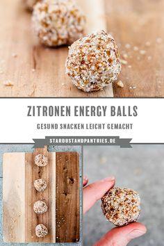 Vegane Superfood Zitronen Energy Balls für gesundes Snacken ohne  schlechtes Gewissen! Geeignet bei einer #nahrungsmittelunverträglichkeit oder #lebensmittelunverträglichkeit wie #laktoseintoleranz, #milchunverträglichkeit oder #milchallergie. #unverträglichkeit #laktosefrei #ohnemilch #vegan #milchfrei #eifrei #ohneei #gesunderezepte #vegetarisch  #Energyballs #Energiebällchen #Snack  #veganerezepte #zuckerfrei Good Carbs, Healthy Carbs, Healthy Sweets, Paleo Dessert, Superfood, Energy Balls, Fabulous Foods, Recipe Using, Clean Eating Recipes