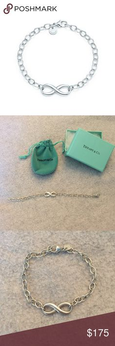 Tiffany & Co. Silver Infinity Bracelet 100% authentic Tiffany & Co. Bracelet, barely ever worn and in great condition Tiffany & Co. Jewelry Bracelets