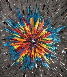 Mosaic Arts International 2013 ~ Society of American Mosaic Artists ~ by Canadian artist Margo Anton Mosaic Artwork, Mosaic Wall Art, Tile Art, Mosaic Glass, Mosaic Tiles, Stained Glass, Glass Art, Mosaic Mirrors, Mosaic Crafts