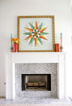 mantel makeover