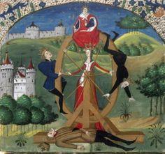 Wheel of fortune. Valerius Maximus, Facta et dicta memorabilia . France, mid-15th century. Bibliothèque nationale de France, Français 43, f. 37