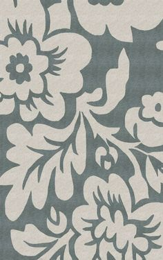 Rugs USA Keno Bold Floral Slate Rug    Bedroom.  6' round $229, 5x8 $246  Other colors available