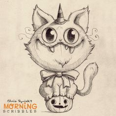 Ready for candy! #morningscribbles #countdowntohalloween