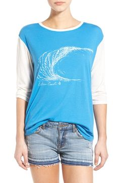 Volcom 'Far Out' Three Quarter Sleeve Graphic Tee