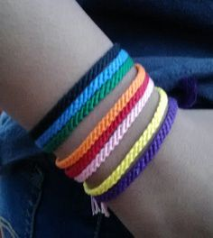 Set of 3 solid color friendship bracelets string by Liv4Friendship