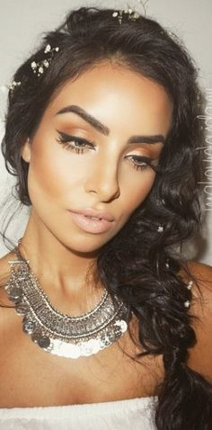 Lovely bronze makeup ...perfect for summer <3