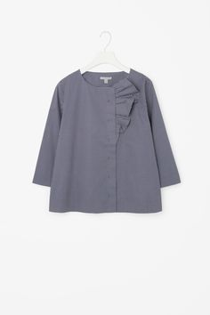 COS image 4 of Blouse with bow in Blue