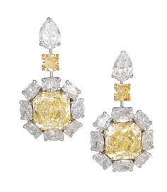David Morris Pearl Jewelry, Diamond Jewelry, Antique Jewelry, Jewelry Box, Diamond Earrings, Jewelery, Fine Jewelry, Canary Diamond, Diamond Ice