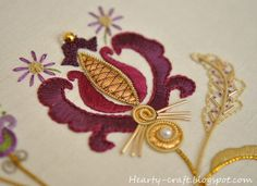 Inspiration: Zinaida of Hearty Craft tries her hand at goldwork
