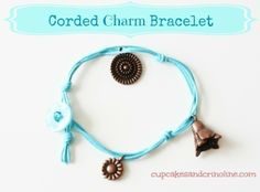 Diy Button And Cord- Bracelet/Belt/lariat With Charms & I'll add feathers too!