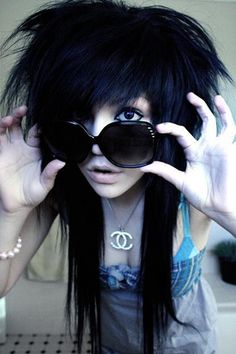my hair used to be something like this... lol =p