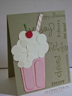 Cute milkshake made with punches!