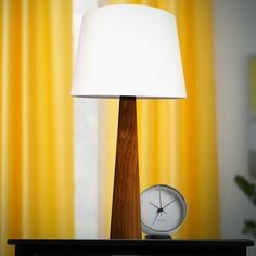 Our walnut table lamp, the perfect finish to your end table. Walnut Furniture, Danish Furniture, Furniture Design, Accent Lighting, Lighting Design, Danish Modern, Mid-century Modern, Walnut Table, Mid Century Modern Furniture