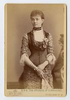 Vintage Cabinet Card Princess Louise Margaret of Prussia Duchess of Connaught