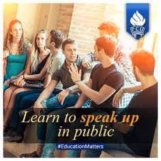 Learn to speak up in public #educationmatters