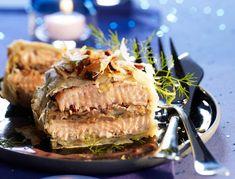 Strudels de saumon aux cèpes et foie gras