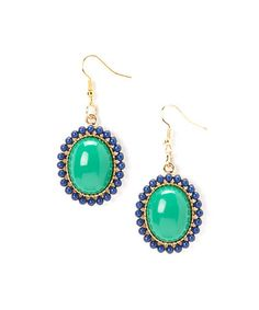 Loving this Emerald & Navy La Ti Dottie Drop Earrings on #zulily! #zulilyfinds