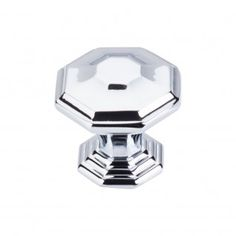 Top Knobs Chareau Collection Chalet Knob 1 1/2 Inch in Polished Chrome. Product # TK348PC