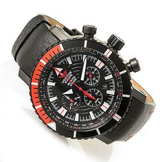 629-849 - Vostok-Europe 50mm Mriya 10-Year Anniversary Automatic Chronograph Watch w/ Two Straps & Tool
