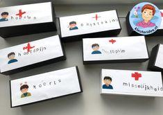 Pillendoosjes stempelen, kleuteridee, met gratis download Kindergarten, Crafts For Kids, Medical, Teaching, Education, Inspiration, Nurse Practitioner, Movies, Kinder Garden
