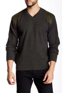 V-Neck Merino Wool Sporting Sweater
