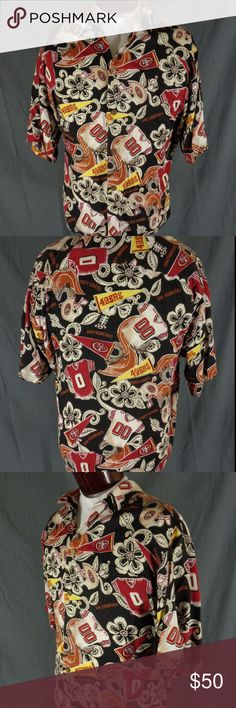 Sold  Vintage San Francisco 49ers Hawaiian Shirt ebffd00f1