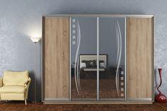LASTELA je veľká šatníková skriňa so 4 posuvnými dverami. Efektný vzor na zrkadle robí z tejto skrine výnimočný prvok. Skriňa je členená na policovú a závesnú časť s 2 závesnými tyčami. #byvanie #domov #nabytok #skrine #skrinespojazdom #modernynabytok #designfurniture #furniture #nabytokabyvanie #nabytokshop #nabytokainterier #byvaniesnov #byvajsnami #domovvashozivota #dizajn #interier #inspiracia #living #design #interiordesign #inšpirácia Divider, Mirror, Room, Furniture, Home Decor, Bedroom, Decoration Home, Room Decor, Mirrors