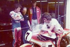 Barry and Pat mulling over the 750