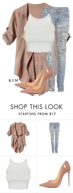 """Untitled #2868"" by whokd ❤ liked on Polyvore featuring Yves Saint Laurent and Christian Louboutin"