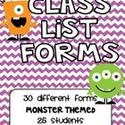 These bright and colorful class lists are perfect for anyone with a monster themed classroom, or anyone who just loves monsters!  Fits up to 25 students!
