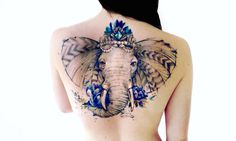 Tatuajes inspirados en la Naturaleza <3 http://www.tigum.es/2016/12/tatuajes-tigum-para-los-que-aman-la.html #tatuajes #tattos #arte #ilustracion #artist #elefante #elephant