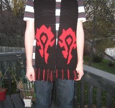 World of Warcraft scarf #scarf #pattern