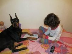 My daughter and I always painted our female Dobie's nails....she LOVED it, and she loved lipstick too!!!