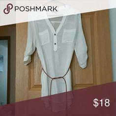 White sheer shirt White sheer shirt. Iz Byer Tops