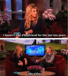 Funny Ellen Degeneres Quotes – 25 Pics. I love her! Who doesn't love her. Can I please meet ellen?!