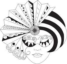 Risultati immagini per mascaras carnaval para colorear Doodles Zentangles, Zentangle Patterns, Colouring Pages, Coloring Books, Mask Drawing, Free Adult Coloring, Tangle Art, Clipart Black And White, Carnival Masks