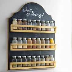 Wooden Spice Rack Build Plans via @kati_farrer