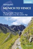 Trekking Munich to Venice  Guidebook to Der Traumpfad, 'Dream Way', through Germany and Italy, 570km from Munich to Venice across some of the best scenery in the Alps. Split into 30 stages, with 5 alternate stages and a day's via ferrata in the Dolomites, the guidebook has full information needed for the trek, including accommodation and points of interest.